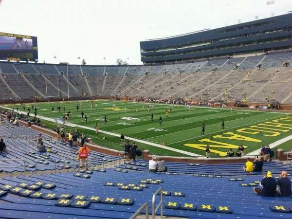 Michigan Stadium, section: 39, row: 30, seat: 10