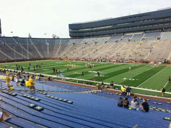 Michigan Stadium, section: 41, row: 30, seat: 9