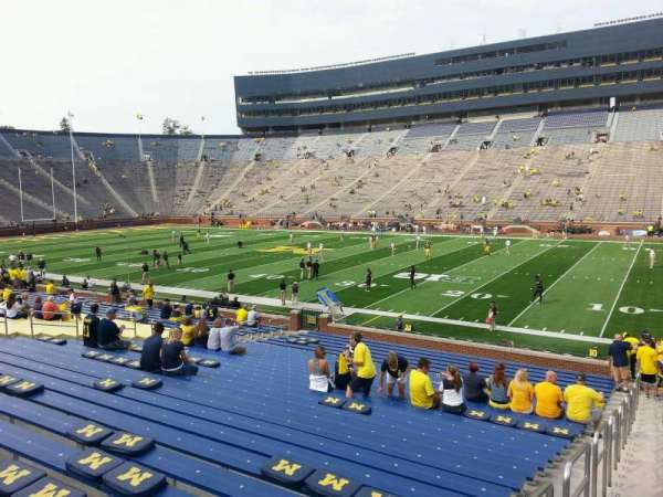 Michigan Stadium, section: 42, row: 30, seat: 13