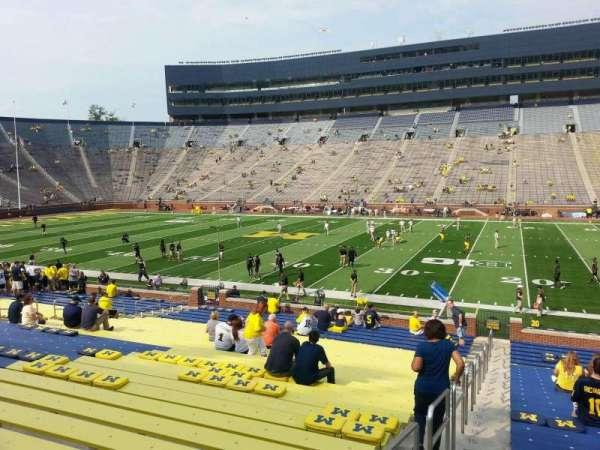 Michigan Stadium, section: 43, row: 30, seat: 13