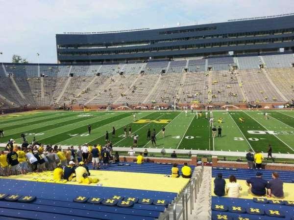 Michigan Stadium, section: 44, row: 30, seat: 13