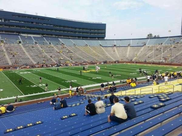Michigan Stadium, section: 4, row: 30, seat: 13