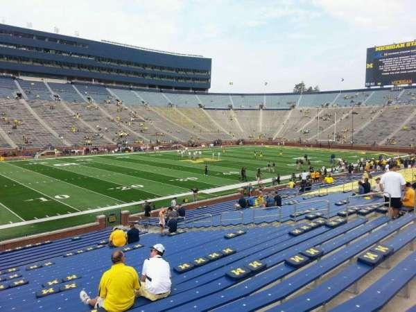 Michigan Stadium, section: 5, row: 30, seat: 10