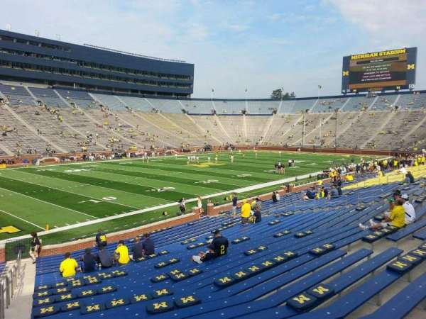 Michigan Stadium, section: 6, row: 30, seat: 10