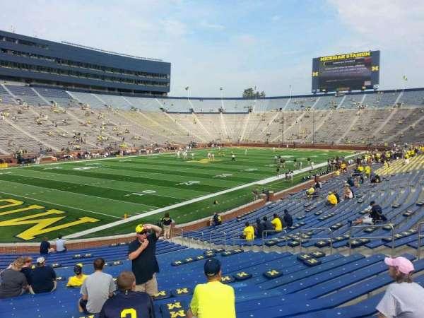 Michigan Stadium, section: 7, row: 30, seat: 10