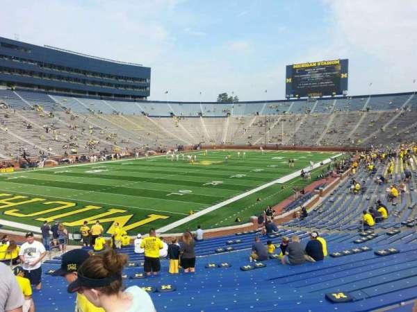 Michigan Stadium, section: 8, row: 30, seat: 10