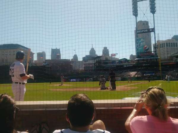 Comerica Park, section: 129, row: 3, seat: 7