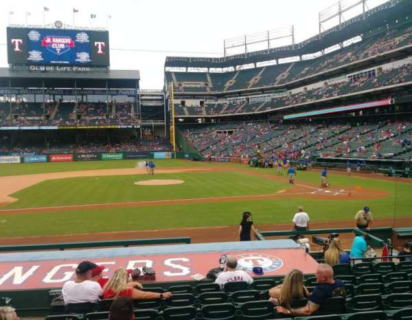 Globe Life Park in Arlington, section: 20, row: 12, seat: 3