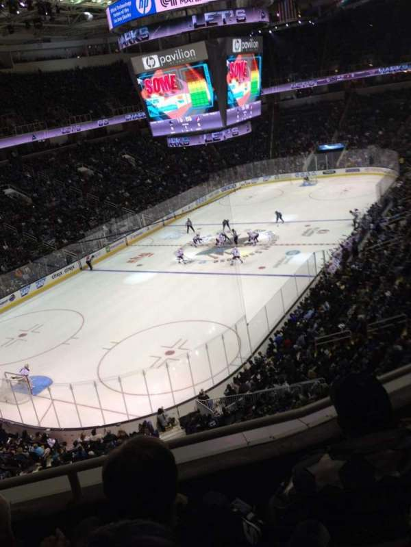SAP Center, section: 219, row: 3, seat: 10