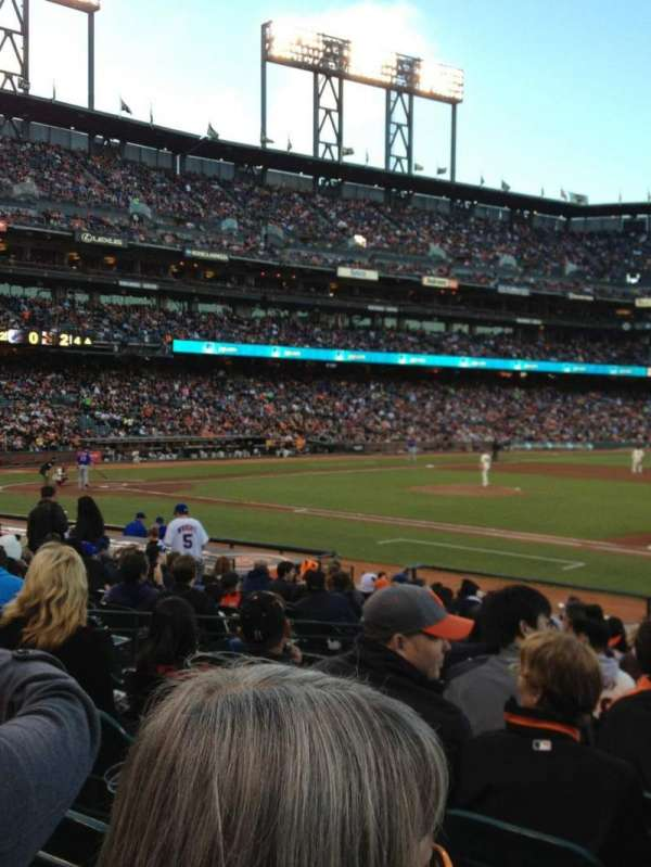 Oracle Park, section: LB106, row: 19, seat: 9