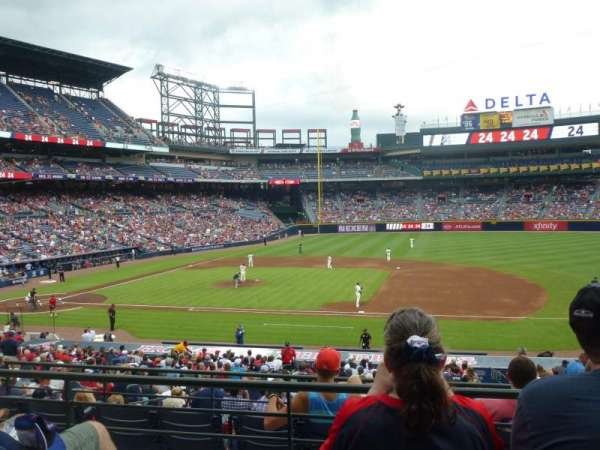 Turner Field, section: 215L, row: 3, seat: 101
