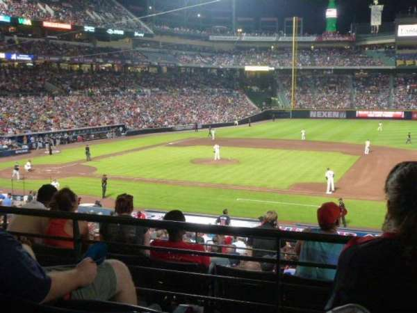 Turner Field, section: 215L, row: 3, seat: 102