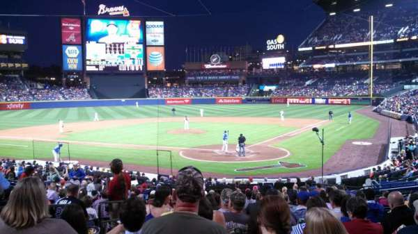 Turner Field, section: 104R, row: 24, seat: 3 and 4