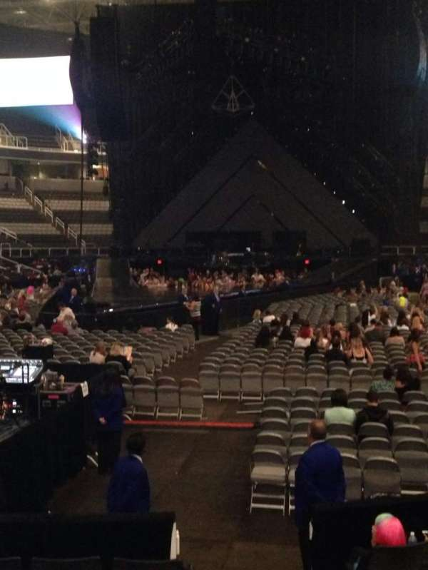 SAP Center, section: 107, row: 8, seat: 2