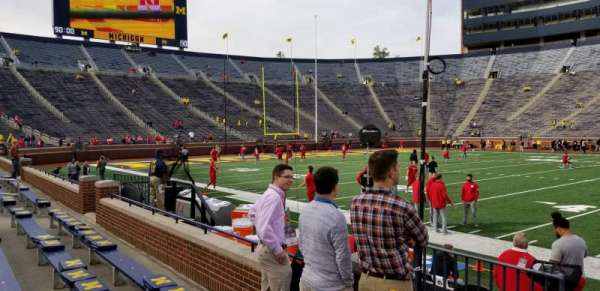 Michigan Stadium, section: 1, row: 2, seat: 12