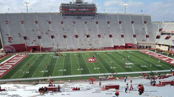 Memorial Stadium (Indiana), section: 28, row: 67, seat: 14