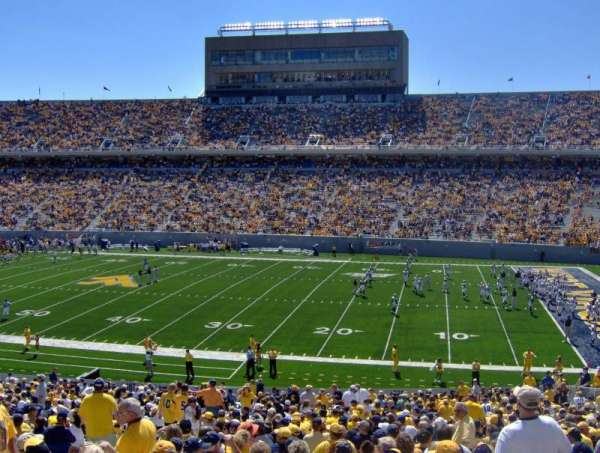 Mountaineer Field, section: 108, row: 42