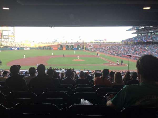 Oracle Park, section: 122, row: 40, seat: 15