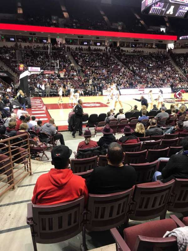 Colonial Life Arena, section: 115, row: 8, seat: 19