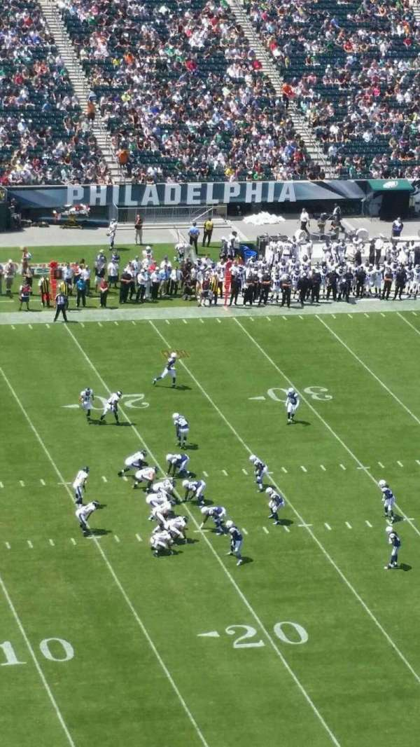 Lincoln Financial Field, section: 221, row: 20, seat: 2