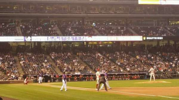 Coors Field, section: 117, row: 4, seat: 12
