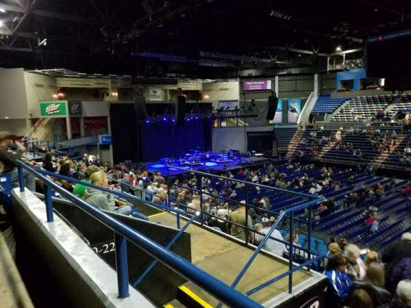 BMO Harris Bank Center, section: 220, row: ee, seat: 3-5