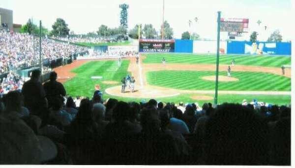 Cashman Field, section: 15, row: 12