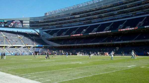 Soldier Field, section: field, west sideline