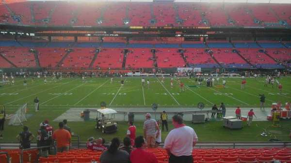 Hard Rock Stadium, section: 116, row: 16, seat: 19
