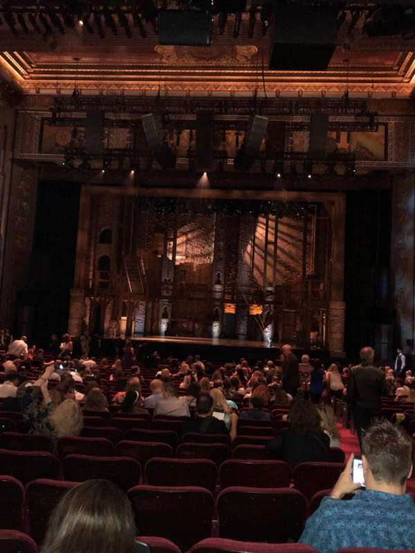Hollywood Pantages Theatre, section: Orchestra, row: NN, seat: 102