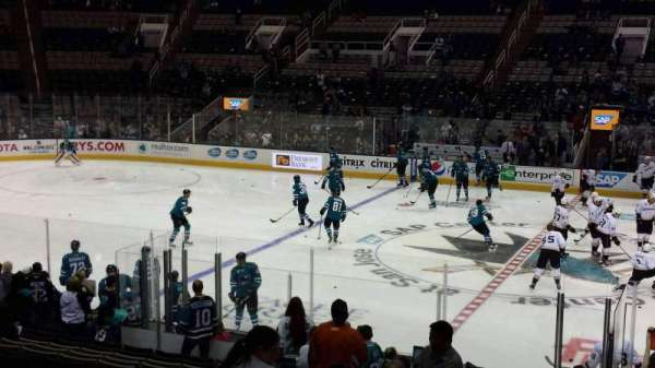SAP Center, section: 115, row: 17, seat: 1