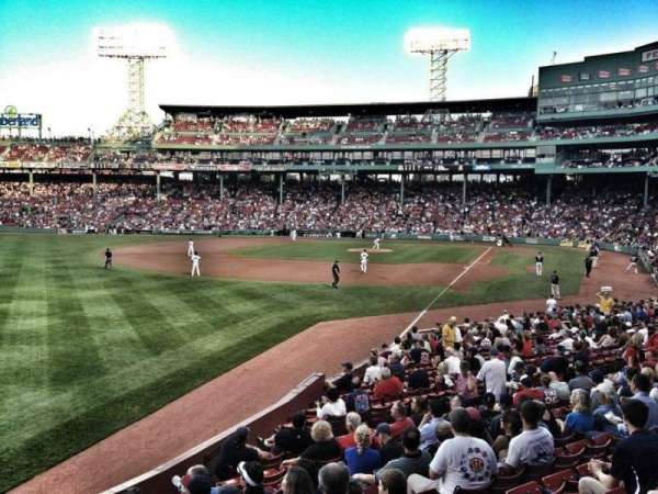 Fenway Park, section: Grandstand 32, row: MM, seat: 5