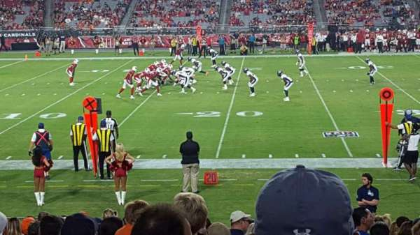University of Phoenix Stadium, section: 132, row: 19, seat: 11