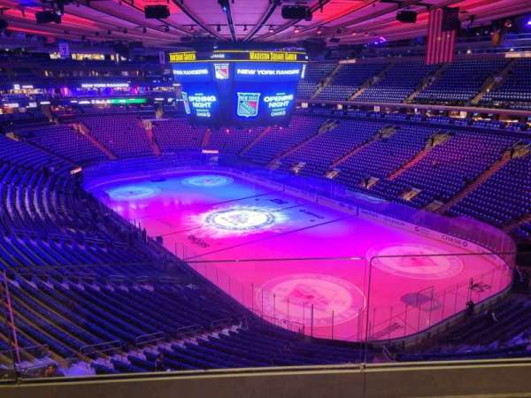 Madison Square Garden, section: 414, row: 2, seat: 2
