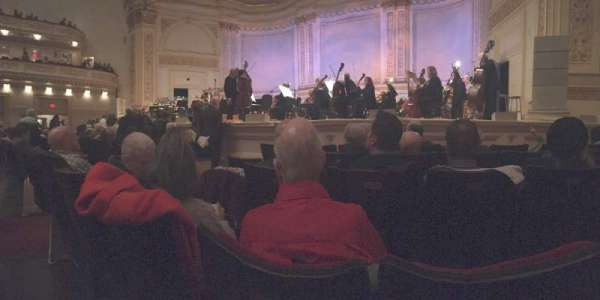 Carnegie Hall, section: Parquet R, row: E, seat: 10