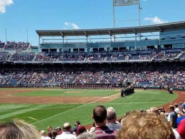 TD Ameritrade Park, section: 122, row: 18, seat: 17