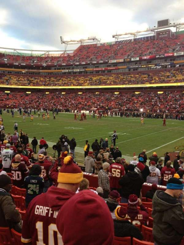 FedEx Field, section: 117, row: 11, seat: 4