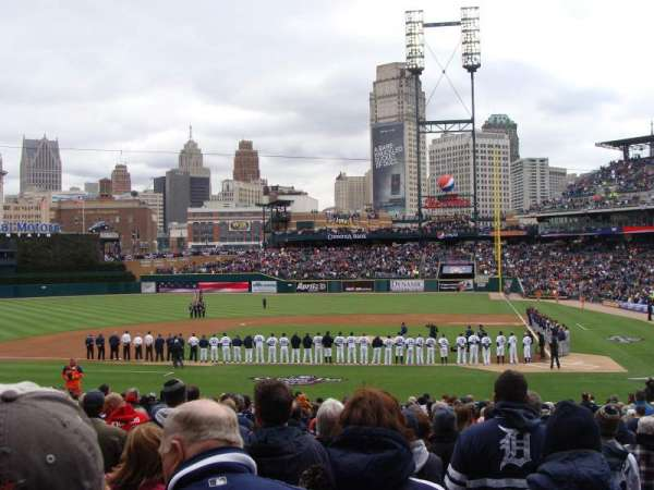 Comerica Park, section: 132, row: 33, seat: 1