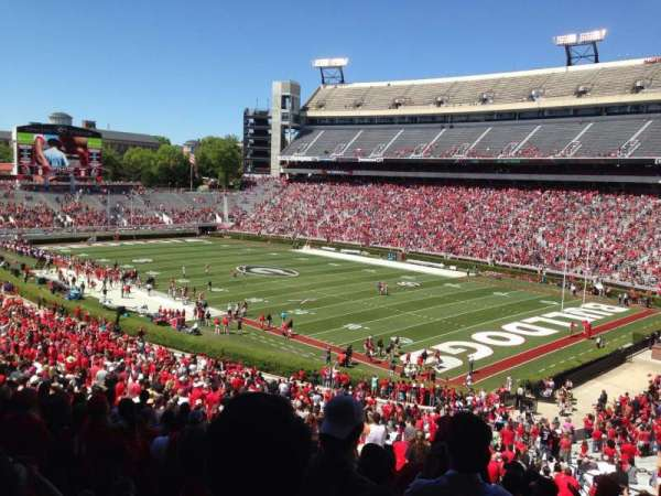 Sanford Stadium, section: 125, row: 60, seat: 1