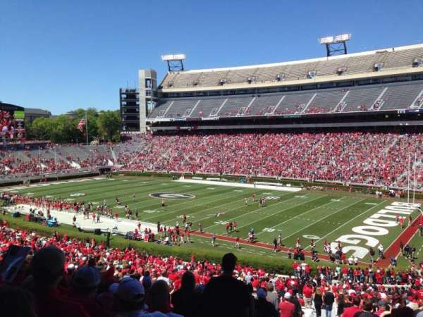 Sanford Stadium, section: 127, row: 57, seat: 1