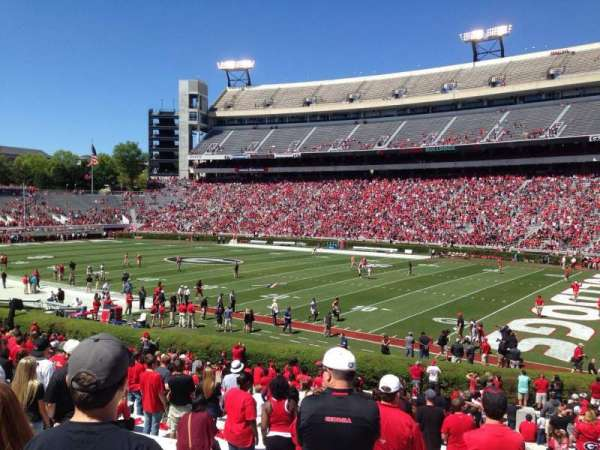 Sanford Stadium, section: 127, row: 30, seat: 1