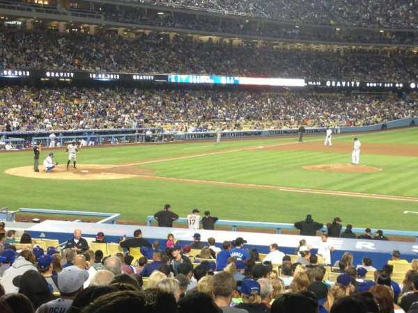 Dodger Stadium, section: 18FD, row: W, seat: 5