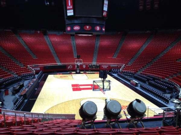 Jon M. Huntsman Center, section: G, row: 19, seat: 7