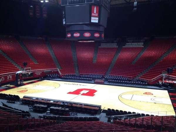 Jon M. Huntsman Center, section: L, row: 19, seat: 7