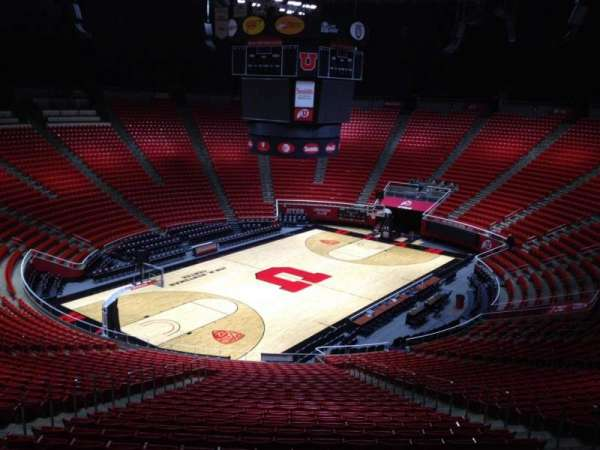Jon M. Huntsman Center, section: rr, row: 1, seat: 18