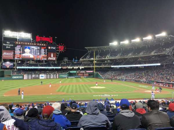 Nationals Park, section: 116, row: DD, seat: 7