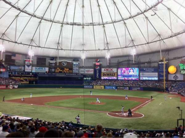 Tropicana Field, section: 105, row: HH, seat: 7