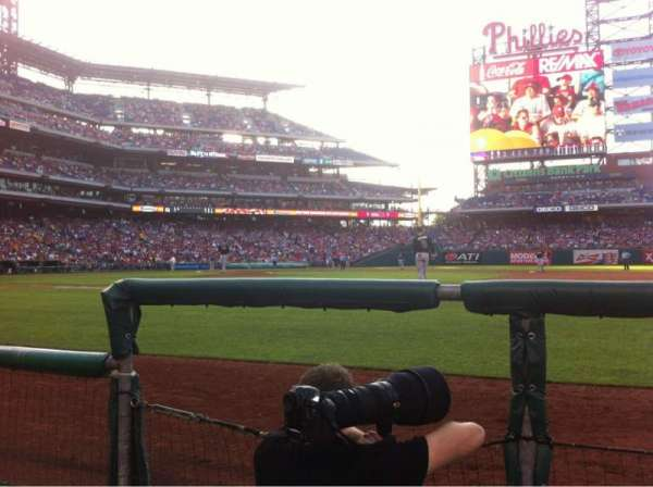 Citizens Bank Park, section: 115, row: 1, seat: 18