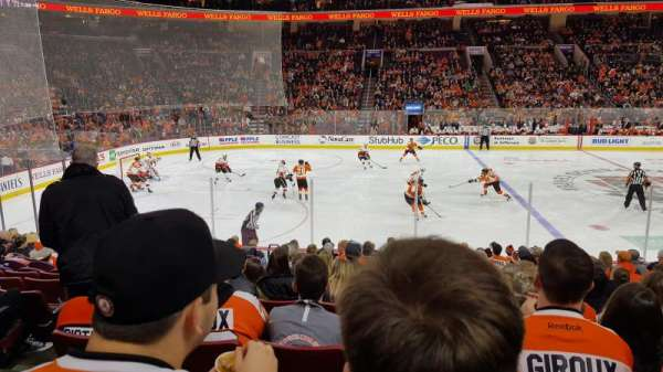 Wells Fargo Center , section: 112, row: 14, seat: 4