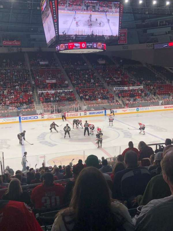 Bojangles' Coliseum, section: 122, row: Q, seat: 7